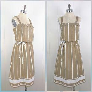 vintage 70's striped cotton summer dress